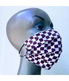 Masque 100% coton WAX (Keita blanc et noir)